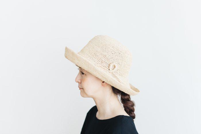 raffia hat wide ornament 2