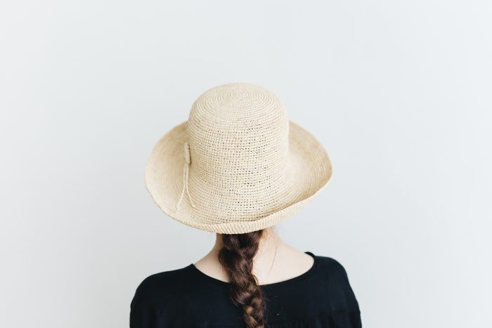 raffia hat wide ornament 3