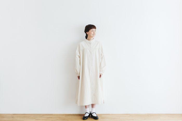 Cotton Linen 2way one-piece  ecru 4
