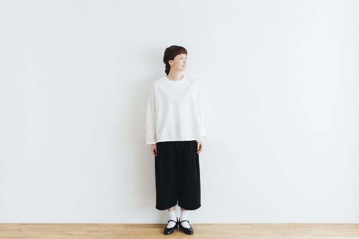 Cotton Side Gather Pullover offwhite 1
