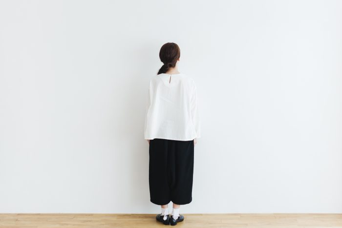 Cotton Side Gather Pullover offwhite 3