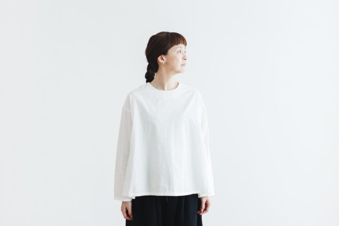 Cotton Side Gather Pullover offwhite 4