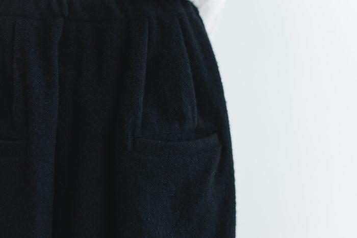 Wool Wide Sarouel pants  black 5