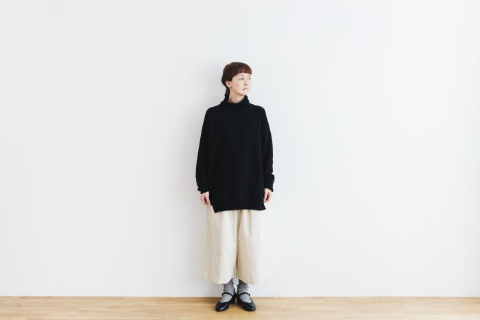 Wool turtle-neck Pull Over  black 2