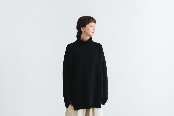 Wool turtle-neck Pull Over  black 1