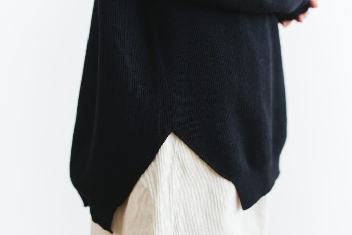Wool turtle-neck Pull Over  black 4