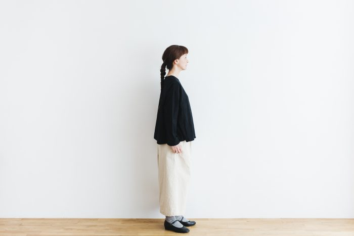 Cotton Side Gather Pullover black 2