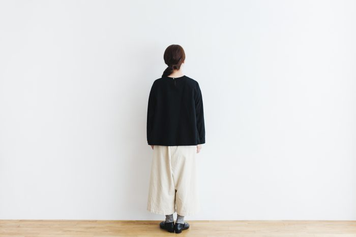 Cotton Side Gather Pullover black 3