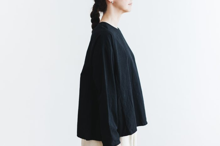 Cotton Side Gather Pullover black 5