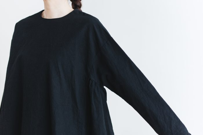 Cotton Side Gather Pullover black 6