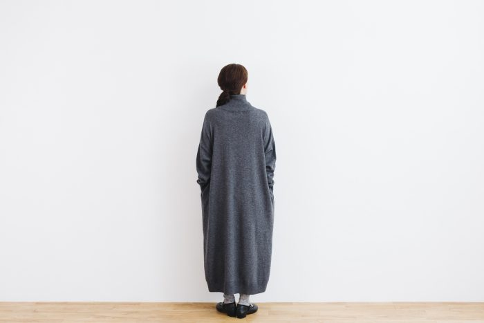 ANONYMOUS KNIT ONE PIECE  gray 3