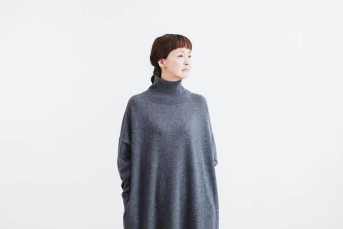 ANONYMOUS KNIT ONE PIECE  gray 4
