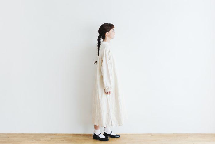 Cotton Linen 2way one-piece  ecru 2