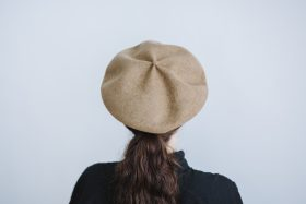 beret top gather big  mocha 3