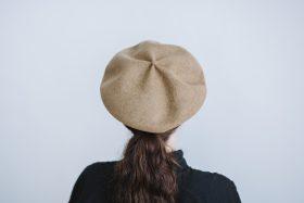 beret top gather big  mocha 3