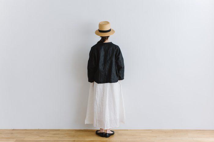 original coating linen HAORI jacket  black 3