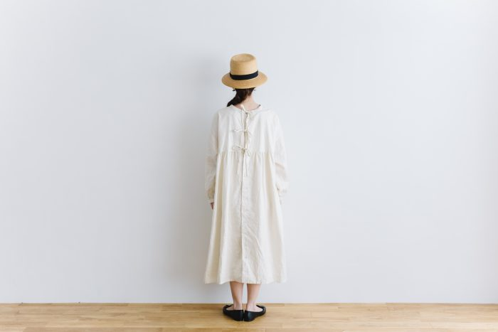 original coating linen antique 2way  one-piece white 3