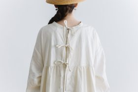 original coating linen antique 2way  one-piece white 5