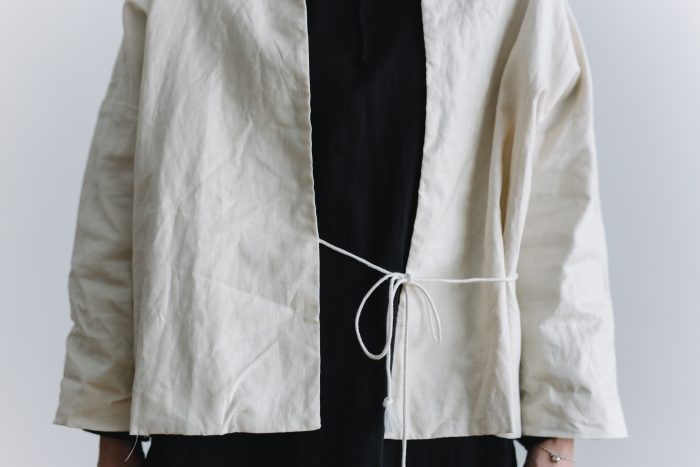 ORIGINAL COATING LINEN HAORI  white 4