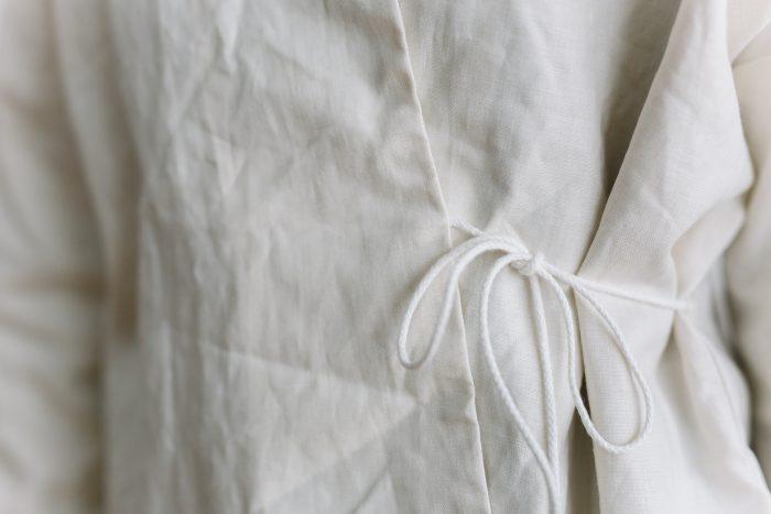 ORIGINAL COATING LINEN HAORI  white 5
