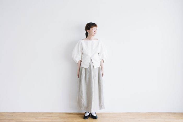 CANVAS LINEN BALOON SLEEVE PO white 4
