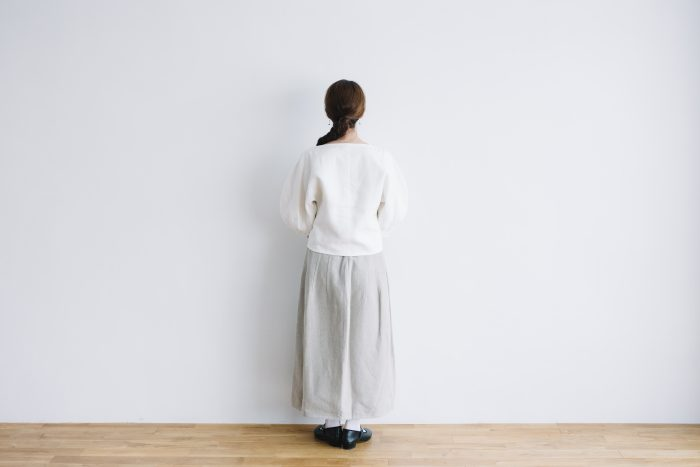 CANVAS LINEN BALOON SLEEVE PO white 5