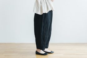 cotton nylon short charlie pants  black 2