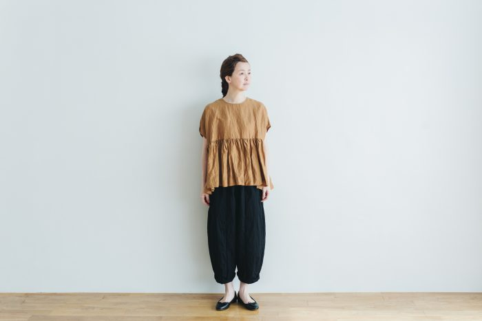 switing gather wide pull over  brown 3