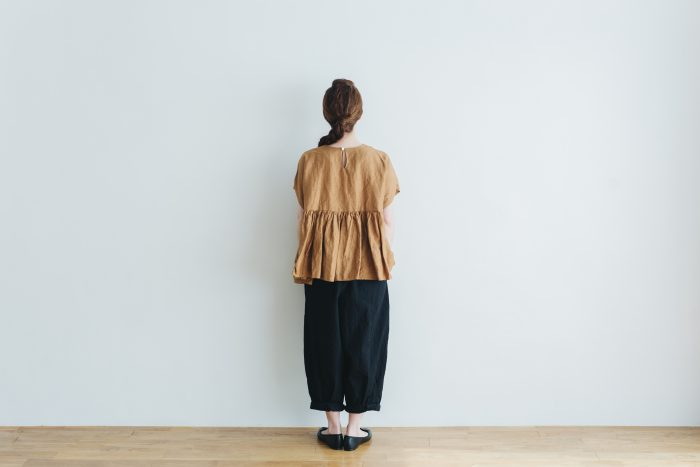 switing gather wide pull over  brown 4