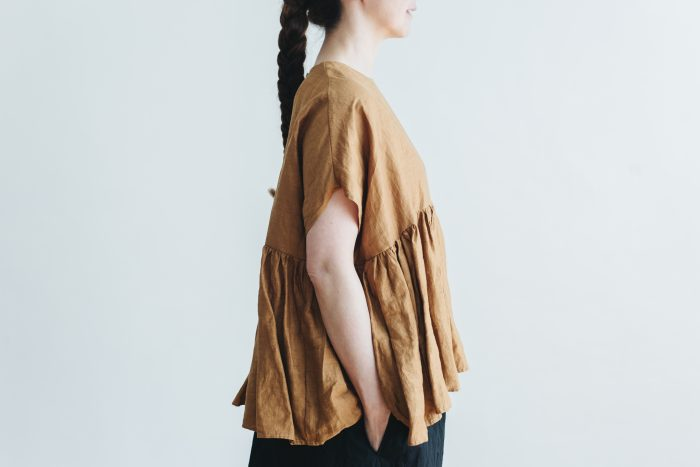 switing gather wide pull over  brown 5