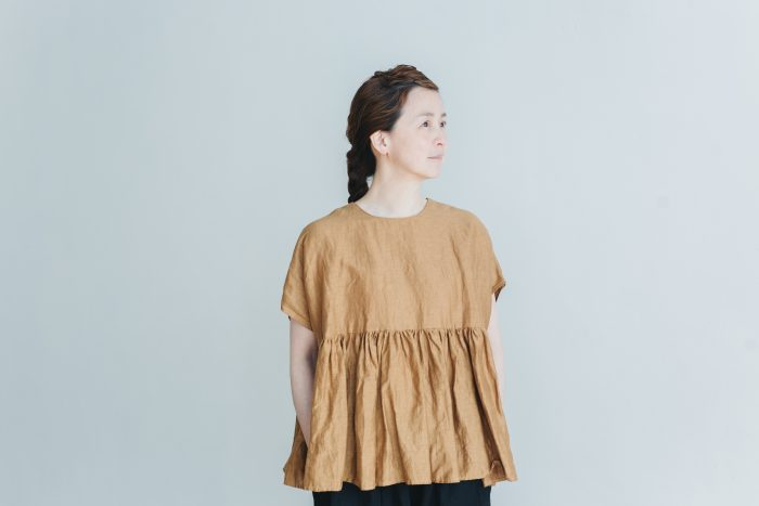 switing gather wide pull over  brown 1