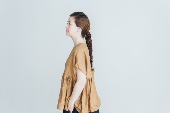 switing gather wide pull over  brown 2