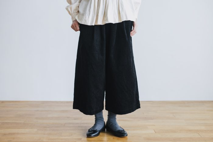 COTTON CORDUROY ROOMY PANTS black 1