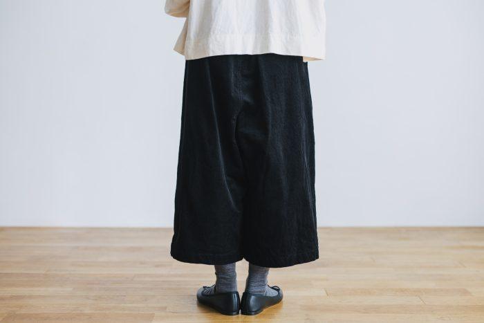 COTTON CORDUROY ROOMY PANTS black 3