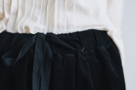 COTTON CORDUROY ROOMY PANTS black 4
