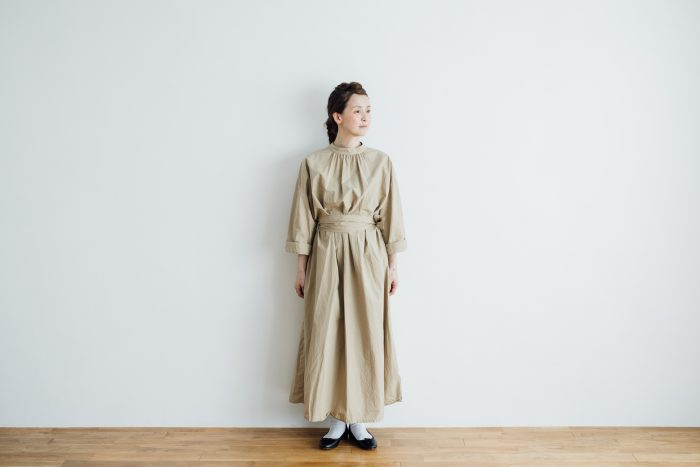 collaboration  one-piece 「eto」 beige 5