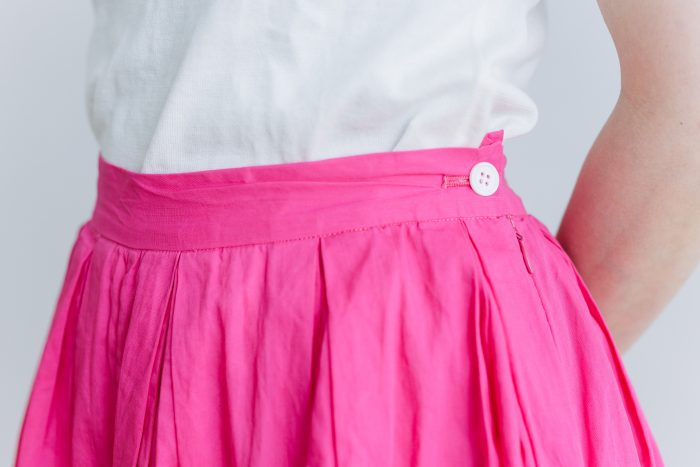 COTTON ORGANDY TUCK CULOTTES pink 3