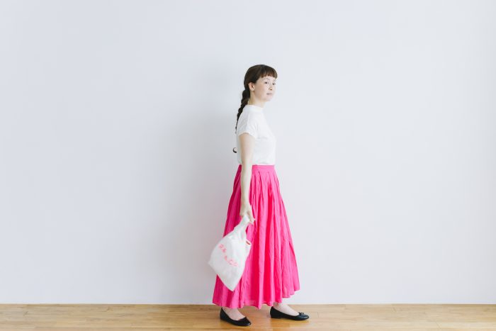 COTTON ORGANDY TUCK CULOTTES pink 5