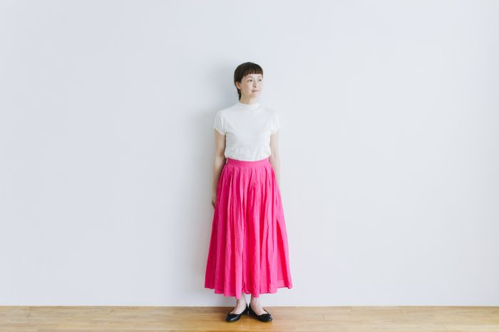 COTTON ORGANDY TUCK CULOTTES pink 1