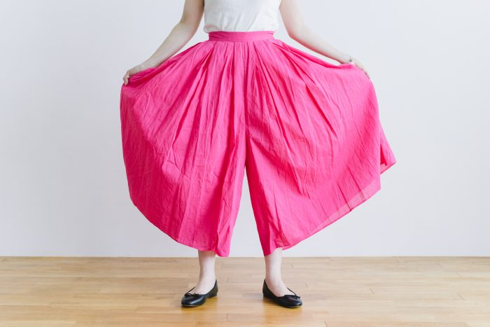 COTTON ORGANDY TUCK CULOTTES pink 4
