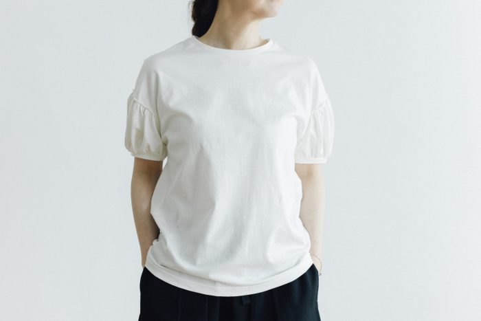 HIGH GAUZE TENJIKU PUFF SLEEVE T-SH white 1