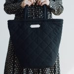 QUILTING MARCHE BAG TALL black