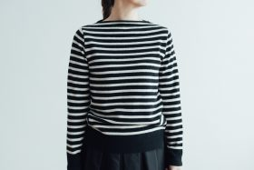 WOOL CASHMERE BOAT NECK SWEATER 1