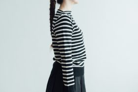 WOOL CASHMERE BOAT NECK SWEATER 2
