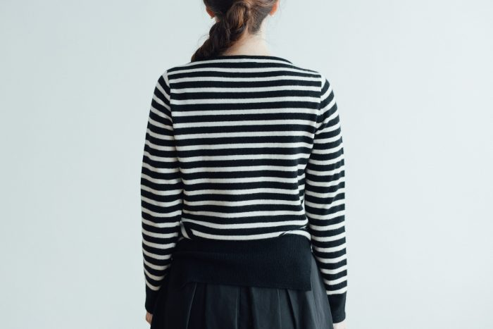 WOOL CASHMERE BOAT NECK SWEATER 3