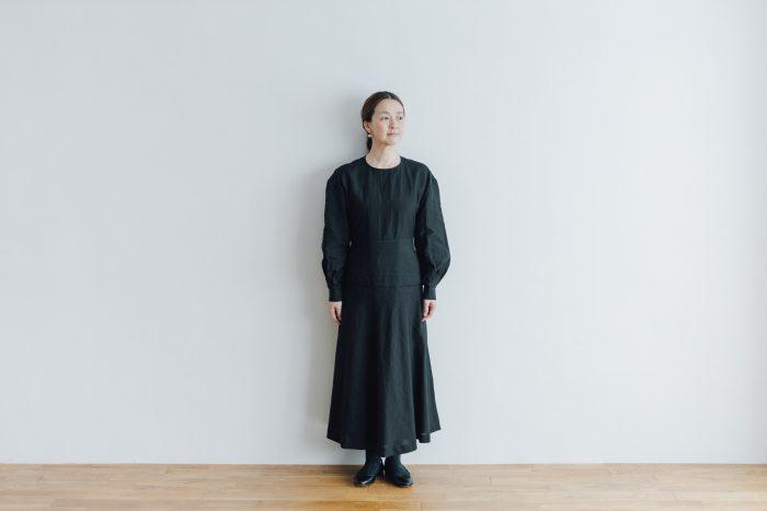 RAMIE HIGH WAIST FLARE DRESS black 1