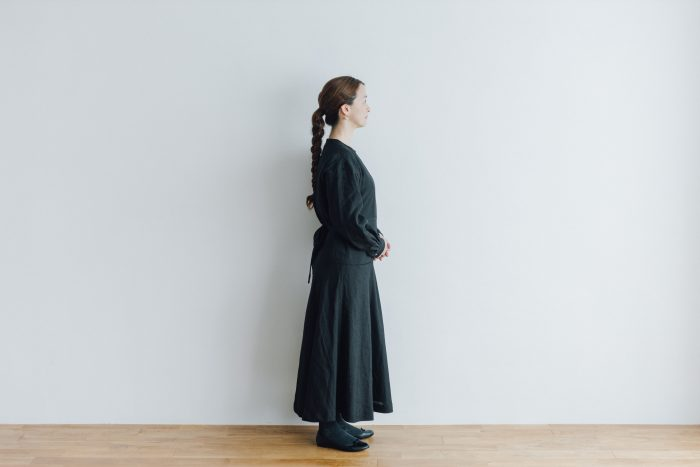 RAMIE HIGH WAIST FLARE DRESS black 2
