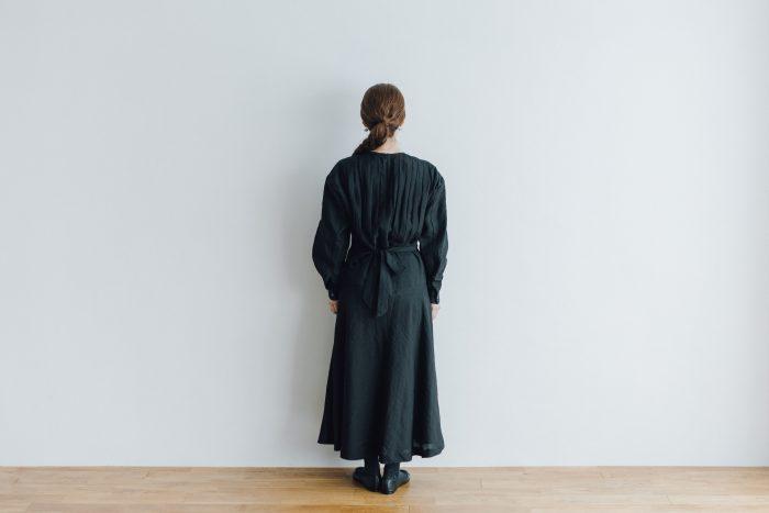 RAMIE HIGH WAIST FLARE DRESS black 3