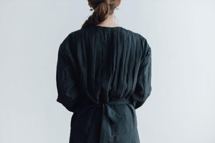 RAMIE HIGH WAIST FLARE DRESS black 4