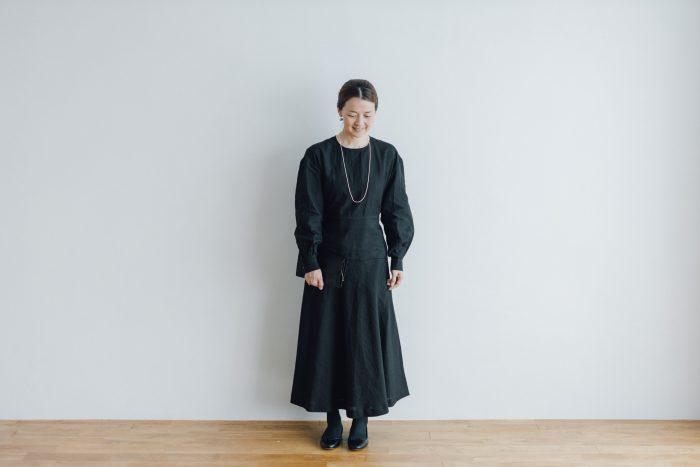 RAMIE HIGH WAIST FLARE DRESS black 5